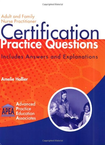 9781892418159: Adult and Family Nurse Practitioner Certification Practice Questions