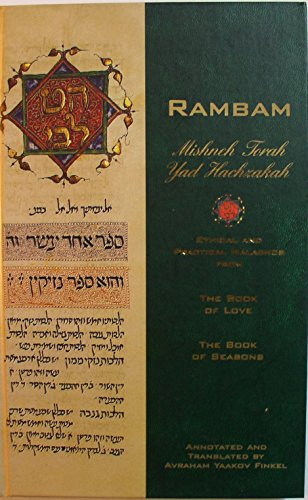 Rambam Mishneh Torah Yad Hachzakah. A collection: Maimonides.