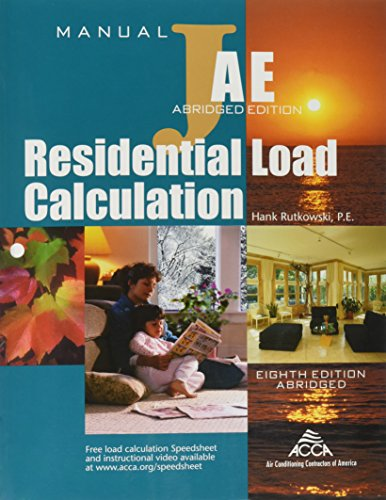 Manual J Residential Load Calculation (8th Edition: International Code Council
