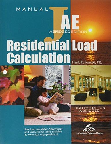 Residential Load Calculation Manual: Hank Rutkowski