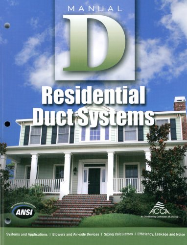 Residential Duct Systems Manual D: Rutkowski, Hank
