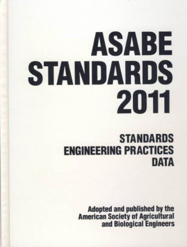 9781892769787: ASABE Standards 2011: Standards Engineering Practices Data. (Asabe Standards (American Society of Agricultural Engineers))