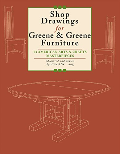 9781892836298: Shop Drawings for Greene & Greene Furniture: 23 American Arts and Crafts Masterpieces