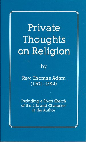 9781892838049: Private thoughts on religion