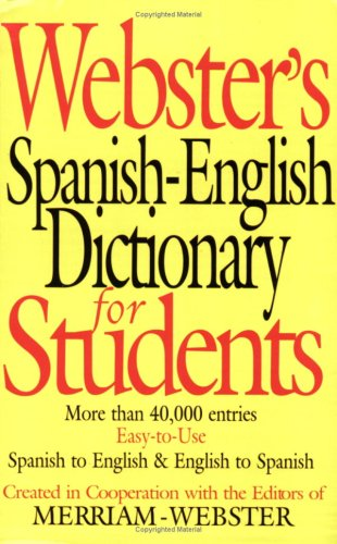9781892859570: Webster's Spanish-English Dictionary for Students (English and Spanish Edition)