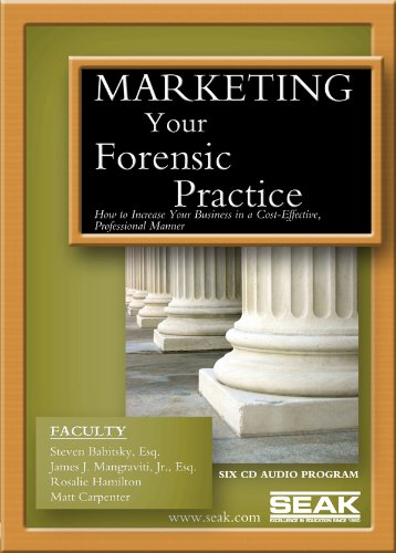 9781892904102: Marketing Your Forensic Practice : How to Increase Your Business in a Cost-Effective, Professional Manner