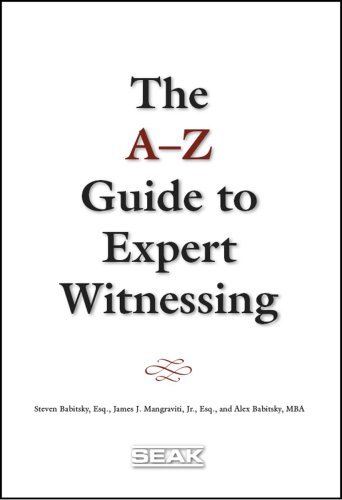 9781892904294: A-Z Guide to Expert Witnessing