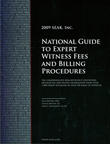 9781892904355: National Guide to Expert Witness Fees and Billing Procedures