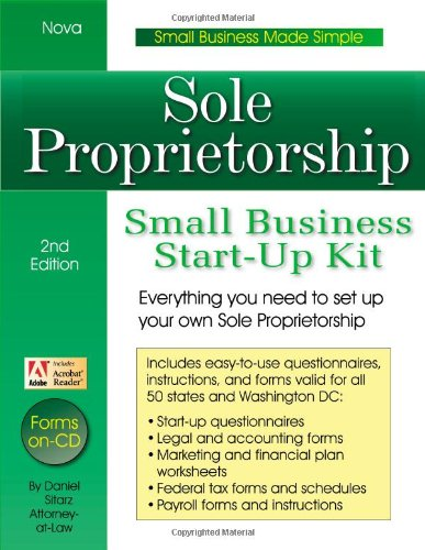 9781892949080: Sole Proprietorship: Small Business Start-Up Kit