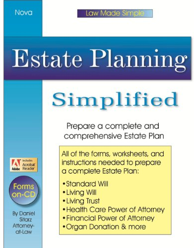 9781892949103: Estate Planning Simplified (Law Made Simple)