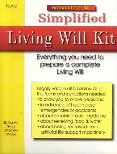 9781892949226: Simplified Living Will Kit (National Legal Kits)