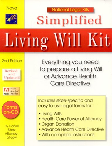 9781892949455: Simplified Living Will Kit (National Legal Kits)