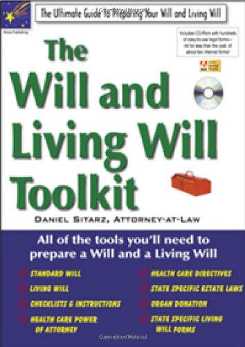 9781892949479: The Will and Living Will Toolkit (Legal Toolkit Series)