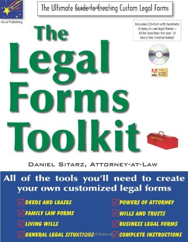 9781892949486: The Legal Forms Toolkit: All the Tools You'll Need to Create Your Own Customized Legal Forms