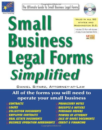 9781892949622: Small Business Legal Forms Simplified: The Ultimate Guide to Business Legal Forms (Small Business Legal Forms Simplified (W/CD))