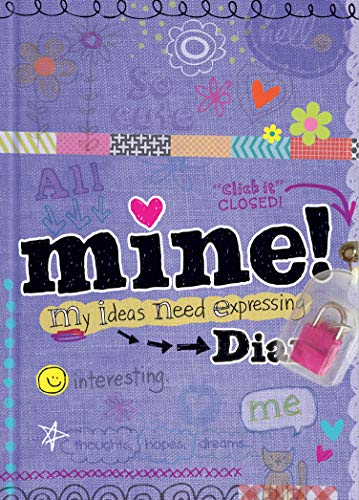 9781892951670: Mine! Diary - Sparkly Lock & Keys - Girls 8+ - Illustrated and Activities
