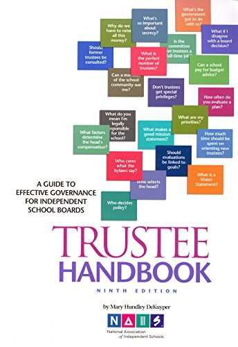 9781893021709: Trustee Handbook: A Guide to Effective Governance for Independent School Boards