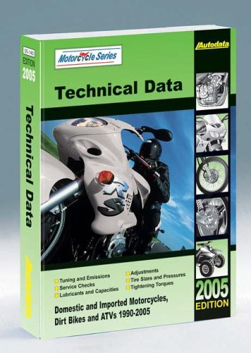 9781893026308: Motorcycle Technical Data Manual (Autodata Motorcycle Data Manual (North America))