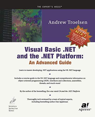 9781893115262: Visual Basic .NET and the .NET Platform: An Advanced Guide