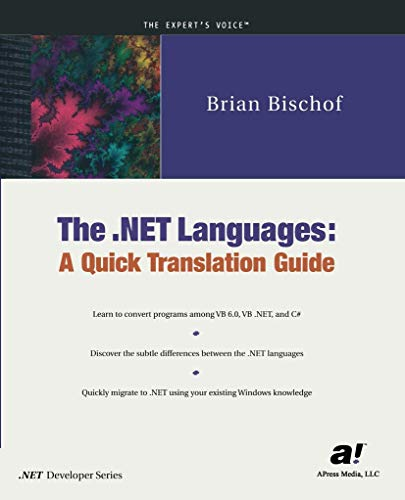 9781893115484: The .NET Languages: A Quick Translation Guide