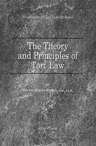 9781893122178: The Theory and Principles of Tort Law (Foundations of Legal Liability)