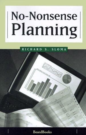 9781893122635: No-Nonsense Planning