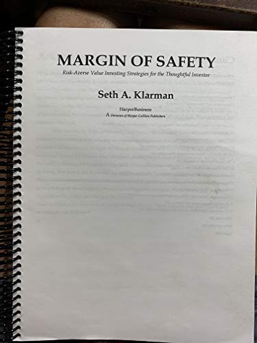 9781893122819: Margin of Safety: Risk-Averse Value Investing Strategies for the Thoughtful Investor