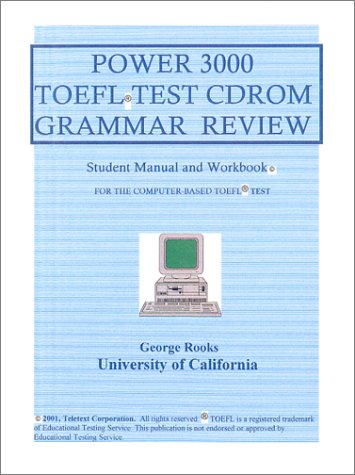 9781893141056: Power 3000 TOEFL Test CDROM Grammar Review : A Tutorial With 3000 Questions (150 Practice Tests)