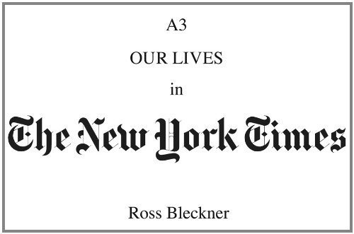 Ross Bleckner: A3: Our Lives in The New York Times: Bleckner, Ross