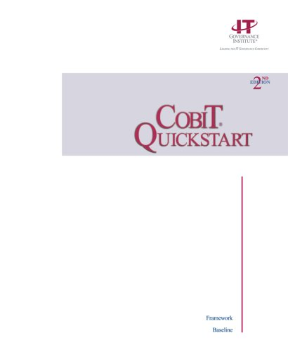 9781893209541: COBIT QuickStart, 2nd Edition