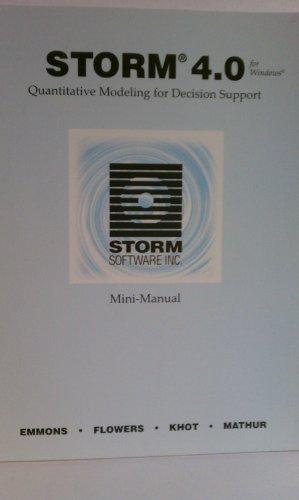 9781893435155: Storm 4.0: Quantitative Modeling for Decision Support