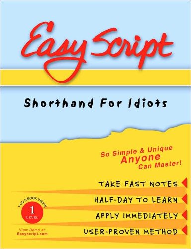 9781893726017: EasyScript I Speed Writing Made Simple (book & 1audio CD): No. 1
