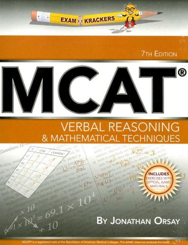 9781893858480: ExamKrackers MCAT Verbal Reasoning & Mathematical Techniques