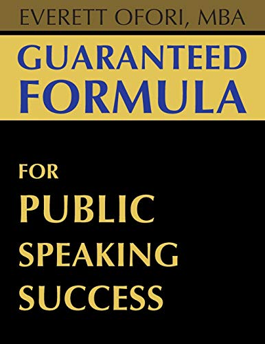 9781894221078: Guaranteed Formula for Public Speaking Success