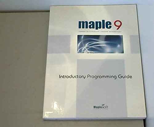 Introductory Programming Guide: Maple 9