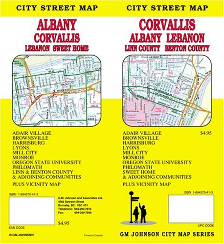 9781894570411: Corvallis/Albany/Lebanon Oregon City Street Map
