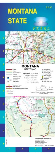 9781894570664: Montana State Pearl Map (Laminated)