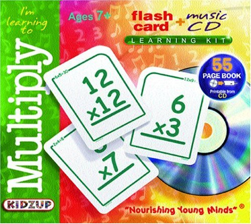 I'm Learning to Multiply (Flash Card + Music CD Learning Kits): Kidzup