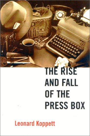 9781894963046: The Rise and Fall of the Press Box