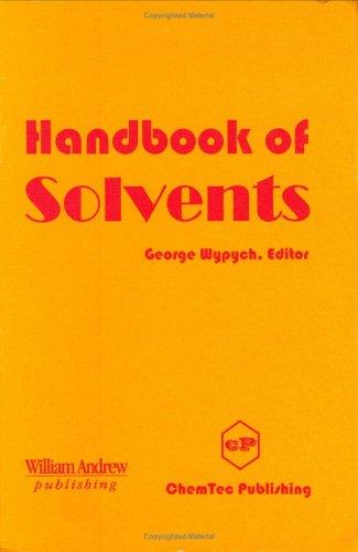 9781895198249: Handbook of Solvents