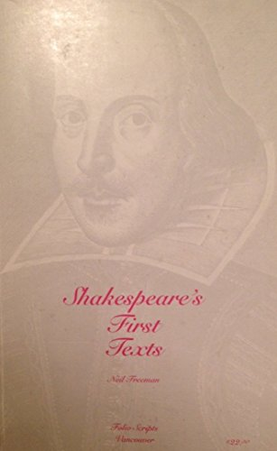 9781895217995: Shakespeare's First Texts