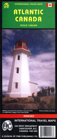 9781895907476: Atlantic Canada Map