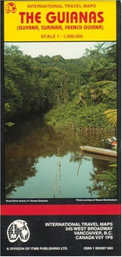 9781895907681: The Guianas map (Guyana/ Surinam/French Guiana) (Travel Reference Map)