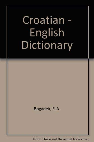 9781895959321: Croatian - English Dictionary (Updated Edition)