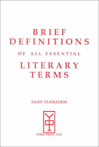 9781896761183: Brief Definitions of All Essential Literary Terms