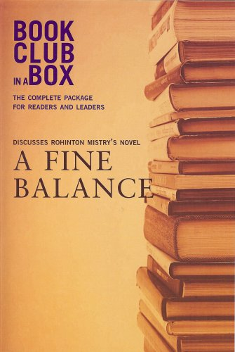 9781897082096: Bookclub-in-a-Box Discusses A Fine Balance, the Novel by Rohinton Mistry