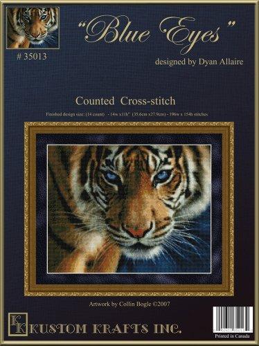 9781897097700: Blue Eyes- Tiger 35013-Cross-stitch