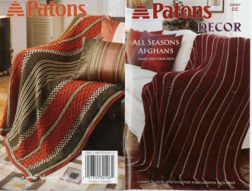 9781897272817: Patons Decor - All Seasons Afghans (Knit and Crochet) 500857