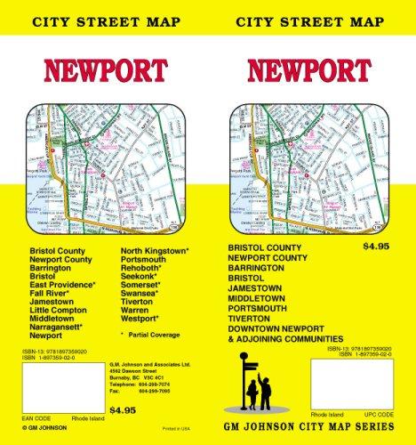 Newport, Rhode Island Street Map: GM Johnson & Associates Ltd.