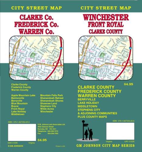 9781897359259: Winchester VA / Front Royal / Clarke, Frederick, & Warren Co. Street Map